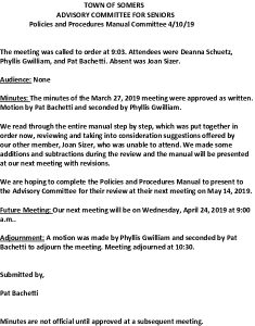 Icon of 20190410 Policies And Procedures Manual Subcommittee Minutes