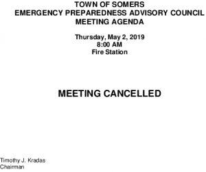 Icon of 20190502 Emerg Prep Mtg Cancellation
