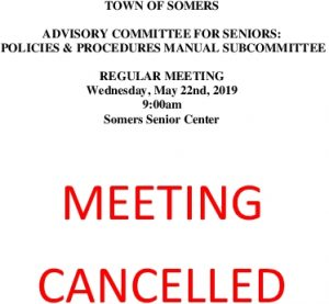 Icon of 20190522 CANCELLATION Of Policies And Procedures Manual Subcommittee