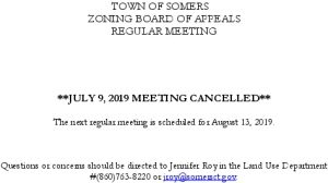 Icon of 20190709 ZBA Meeting Cancelled