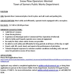 Icon of Snow Plow Operators Wanted 2019