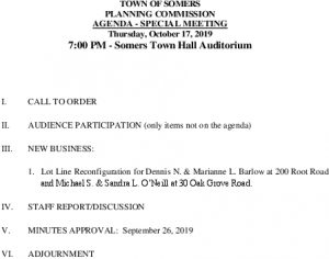 Icon of 20191017 Planning Commission Special Meeting Agenda