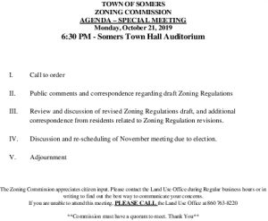 Icon of 20191021 Zoning Commission Agenda Special Meeting