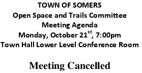 Icon of 20191021 Open Space And Trails Committee Meeting Cancelled