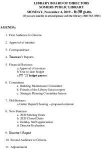 Icon of 20191104 Library Board Agenda