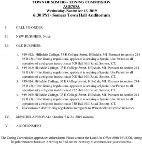 Icon of 20191113 Zoning Commission Special Meeting Agenda