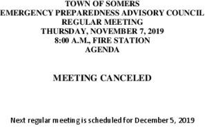 Icon of 20191107 EPAC Meeting Canceled