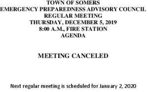 Icon of 20191205 Emerg Prep Cancellation