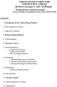 Icon of 20191209 Library Board Agenda