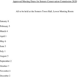 Icon of 2020 Conservation Mtg Schedule