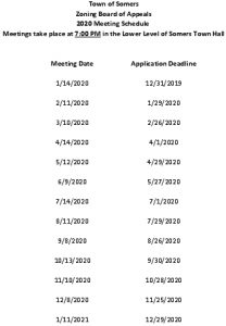 Icon of 2020 ZBA Meeting Schedule