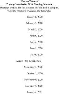 Icon of 2020 Zoning Commission Meeting Schedule
