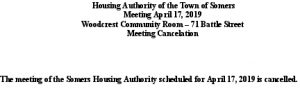 Icon of 20190417 Housing Auth Mtg Cancellation