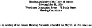Icon of 20180515 Housing Auth Mtg Cancellation