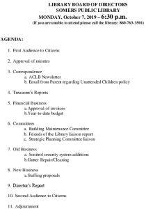 Icon of 20191007 Library Board Agenda