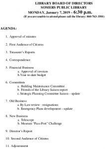 Icon of 20190107 Library Board Agenda