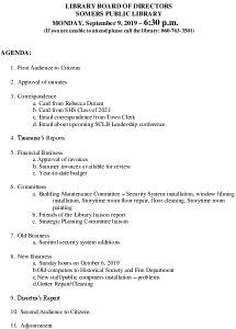 Icon of 20190909 Library Board Agenda