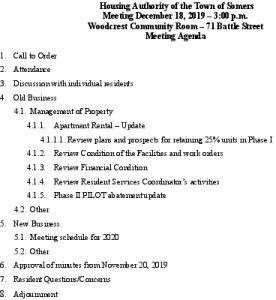Icon of 20191218 Housing Auth Agenda