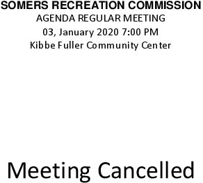 Icon of 20200103 Rec Commission Meeting Cancelled