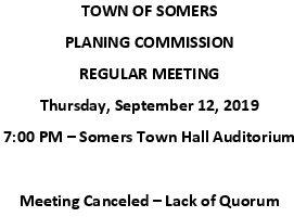 Icon of 20190912 Planning Meeting Canceled