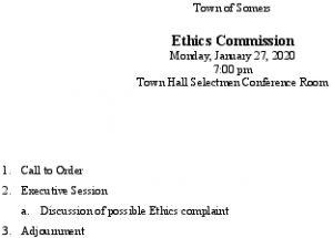 Icon of 20200127 Ethics Comm Agenda