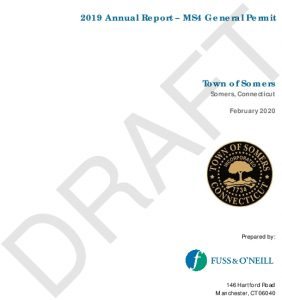 Icon of Somers 2019 MS4 Annual Report DRAFT