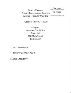 Icon of 20200317 Brd Of Assessment Appeals Agenda