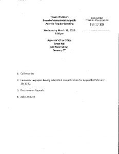 Icon of 20200318 Brd Of Assessm't Appeals Agenda