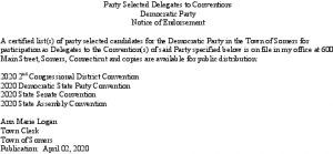 Icon of Democratic Selected Delegates To Conventions