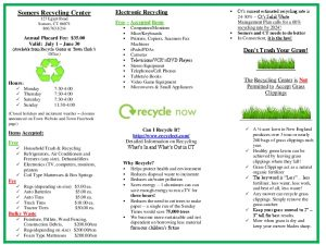 Icon of Trifold Handout Somers Recycling Center