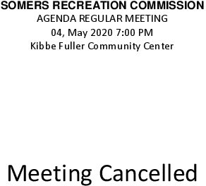 Icon of 20200504 Rec Commission Meeting Cancelled