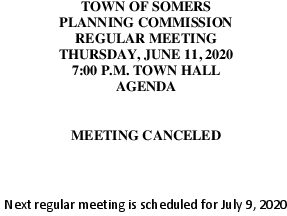 Icon of 20200611 Planning Meeting Canceled