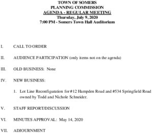 Icon of 20200709 Planning Commission Meeting Agenda
