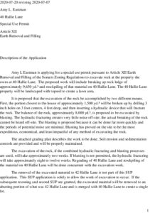 #20-009 - 40 Hallie Ln SUP Application Description  Rev  20 Jul 2020