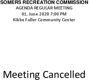 Icon of 20200601 Rec Commission Meeting Cancelled