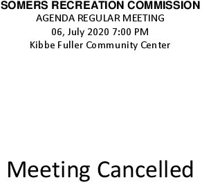 Icon of 20200706 Rec Commission Meeting Cancelled