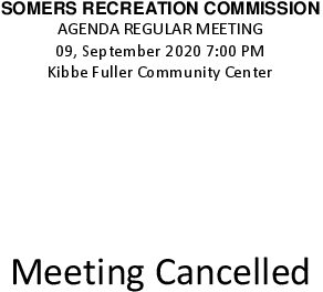 Icon of 20200914 Rec Commission Meeting Cancelled