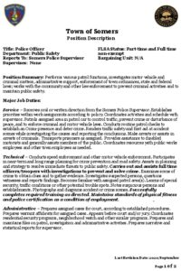 Icon of Police Officer Job Description 2020 Docx