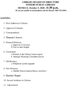 Icon of 20201005 Library Board Agenda