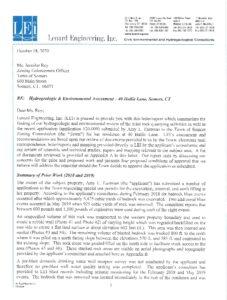 Icon of Lenard Hydrogeologic & Environmental Assessment - 40 Hallie Lane, Somers (Oct  19, 2020)