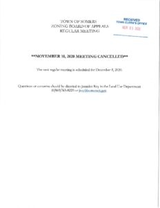 Icon of 20201110 ZBA Meeting Cancelled