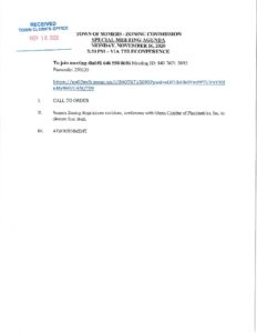 Icon of 20201116 Zoning Commission Special Meeting Agenda