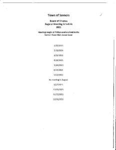 Icon of 2021 Finance Mtg Schedule
