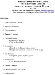 Icon of 20201207 Library Board Agenda