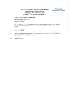 Icon of 20201215 Zoning Commission SPECIAL Meeting Agenda
