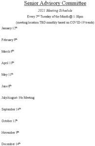 Icon of 2021 Sr Advisory Mtg Schedule