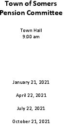 Icon of 2021 Pension Comm Mtg Schedule
