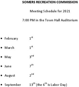 Icon of 2021 Rec Commission Meeting Schedule