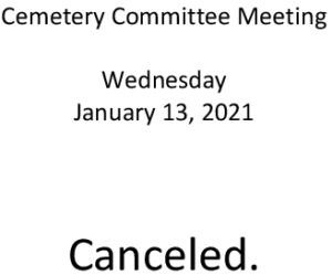 Icon of 20210113 Cemetery Mtg Cancelled