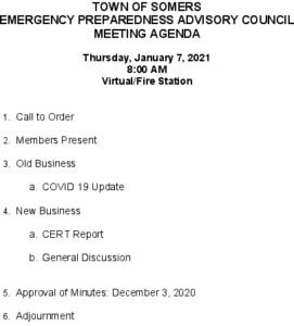 Icon of 20210107 Emerg Prep Agenda